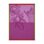 Fruits Du Verger Purple Tea Towel 24 X 31 In