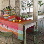 Bastide Red Pepper Coated Table Linens