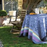 Provence Lavender Blue Coated Damask Table Linens