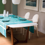 Siena Celadon Damask Table Linens
