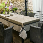 Siena Taupe Damask Table Linens