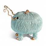 Haas Fox Salad Monster Serving Bowl Blue + Green (Special Order) | Gracious Style