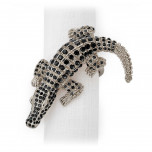 Four Crocodile Napkin Rings