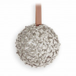 Garland Platinum + White Crystals 3 in Ornament | Gracious Style