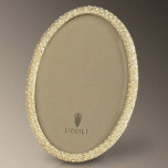 L'Objet Pave Gold Oval Picture Frame   Gracious Style