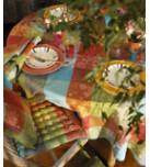 Mille Couleurs Paris Coated Stain-Resistant Damask Table Linens