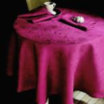 Mille Datcha Framboise Damask Table Linens