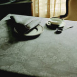 Mille Datcha Nacre Damask Table Linens