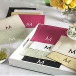 Modern Monogram Cocktail Napkins | Gracious Style