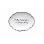 A Heart That Loves Is Always Young Ring Tray