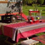 Zingaro Pink Coated Tablecloth Square 55 in