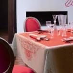 Venezia Cornelian Damask Table Linens