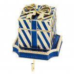 Blue Gift Box Stocking Holder