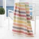 Pareo Stripe Fouta Terry Beach Towel 40 x 70 in - Multi