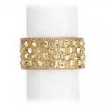 Pave Band Gold Crystal Napkin Rings | Gracious Style
