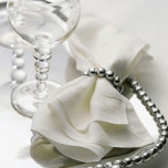 Pearls Napkin Rings Metal Aluminum Silver Brilliant Gift | Gracious Style