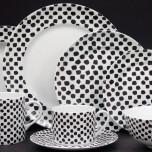 Kelly Wearstler Dots Black on White Dinnerware
