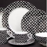Kelly Wearstler Dots White on Black Dinnerware