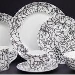 Kelly Wearstler Tracery Black on White Dinnerware | Gracious Style