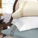 Pierce Embroidered Cotton Sheet Sets | Gracious Style