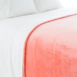 Selke Fleece Coral Bedding