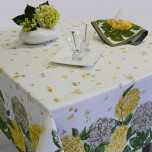 Hortensias Gray/Yellow Table Linens