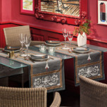 Voltaire Anthracite Print Table Linens