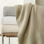 Riviera Waffle Cotton Blanket | Gracious Style
