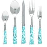 Zebra Turquoise Flatware
