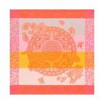 Fleurs Gourmandes Peach Napkin Square 22 in