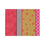 Zingaro Pink Coated Placemat Rect 19 x 14 in