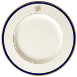 Signature Monogram Blue Dinnerware | Gracious Style