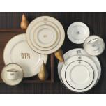 Signature Monogram Platinum Dinnerware