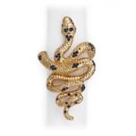 Snake Gold Napkin Rings | Gracious Style