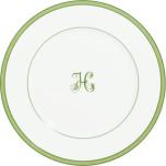 Tropic Monogram Green Dinnerware