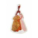 Christian Lacroix - Madones Byzantine Tray (Red) 1/2in x 12 1/3in (Special Order)