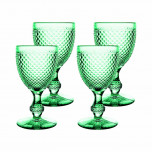 Bicos Set Of 4 Water Goblets Mint 6 5/7 in. H 3 4/9 in. W