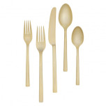Vera Wang Polished Gold Stainless Flatware
