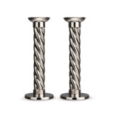 Carrousel Stainless Steel Candlesticks