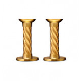 Carrousel Gold Candlesticks - Small, Pair 5.5 in