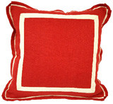 Red Oak Linen 20 X 20 Pillow with Natural Twill Tape