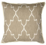 Monaco Linen With White Eyelash Trim Pillow 20 X 20 In