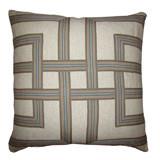 Horizon Lattice Tape 22 X 22 Pillow on Heavy Basket