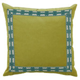 Quince Velvet With Amalfi Glass Tape Pillow 22 X 22 In