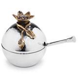 Aviva Pomegranate Covered Bowl w/Spoon 3½ in x 3½ in x 4 in