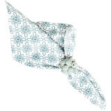 "Medallion Napkin Ice Blue 22""Sq"
