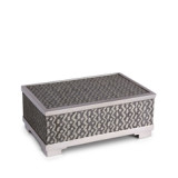 Fortuny Decorative Box Medium Tapa Black & Platinum8 x 5.5 x 3 in