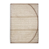 Fortuny Runner Tapa White & Gold 90 x 16 in