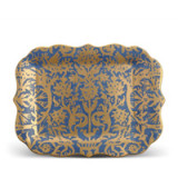 Fortuny Platter Rectangular Pergolesi Blue 12 x 16 in