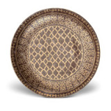 Fortuny Platter Round Ashanti Grey 18 in